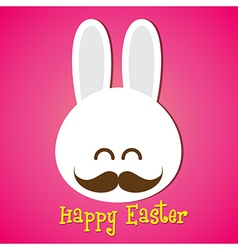 Happy easter smile rabbit bunny cartoon 002 vector image