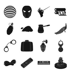 weather crime theater sport and other web icon vector image vector image