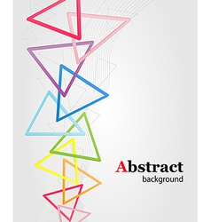 abstract background with multi colored triangles vector image
