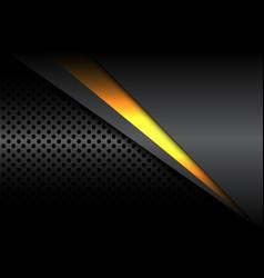 Abstract yellow light line overlap dark metallic vector