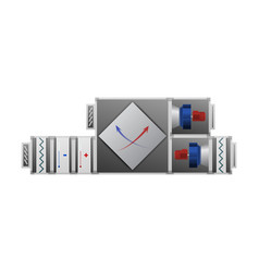 air handler with recuperator vector image