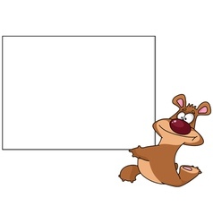 bear with blank vector image