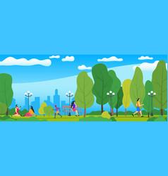 beautiful city park vector image