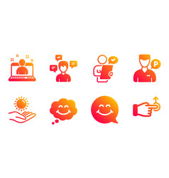 Best manager customer survey and conversation vector