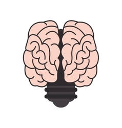 Brain and lightbulb icon vector