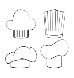 Chef hats icon set design vector