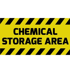 Chemical storage area sign vector image