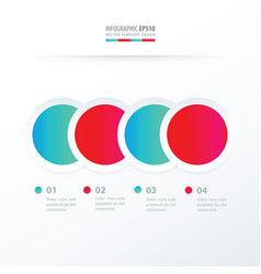 circle overlap infographic blue and pink color vector image