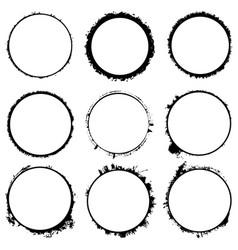 Circular frames set vector