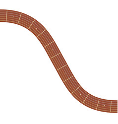 Curved guitar fretboard vector