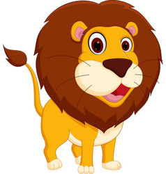 Cute lion cartoon standing vector