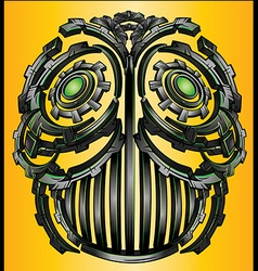 Cyber techno digital robot face design vector