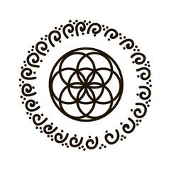 Feminine symbol flower of vector