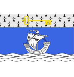 Flag of saint-nazaire in loire-atlantique of pays vector