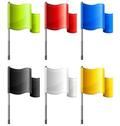 flag rectangular vector image