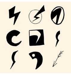 Flash symbols vector