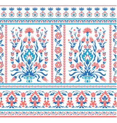 Floral pattern in folk style vector