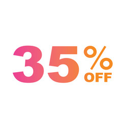 gradient pink to orange thirty five percent vector image