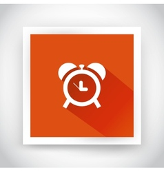 Icon of alarm clock for web and mobile vector
