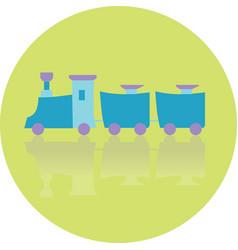 icon toy locomotive vector image