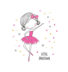 Little ballerina vector
