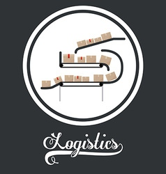 Logistics design vector image