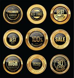 Luxury golden retro badges collection 13 vector