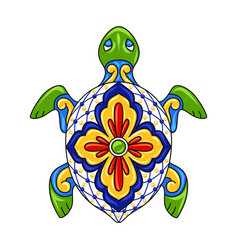 mexican ornamental turtle vector image