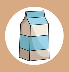 milk box healthy fresh image vector image