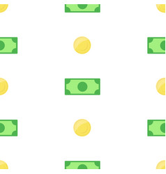 Money bank notes and coins on white background vector