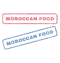 Moroccan food textile stamps vector