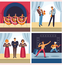 Musical concerts cabaret and jazz opera and rock vector