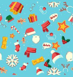 new year symbols christmas holiday seamless vector image