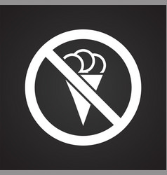 No food allowed sign on black background for vector