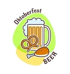 Oktoberfest beer emblem vector
