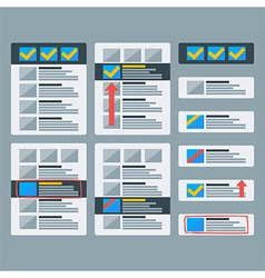 Paper advertising objects set vector