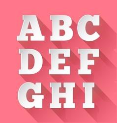 Paper alphabet A-I vector