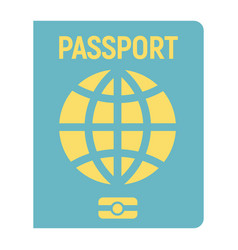 Passport flat icon travel and citizenship vector