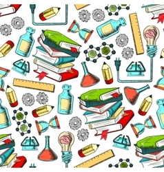 Physics and chemistry seamless pattern vector