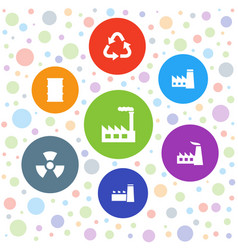 pollution icons vector image