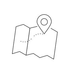 position line black icon vector image