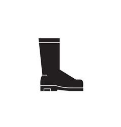 rain boots black concept icon rain boots vector image