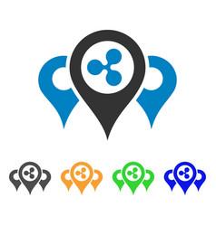 Ripple locations icon vector