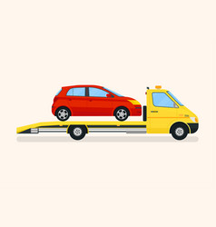 Road assistance tow truck vector