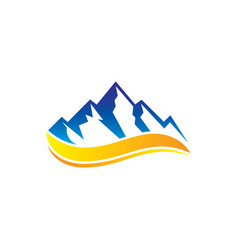 Rocky mountain wave logo vector