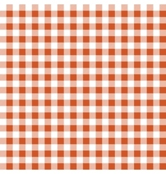 Seamless texture of orange plaid vector image
