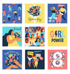 set of 8 march international vector image
