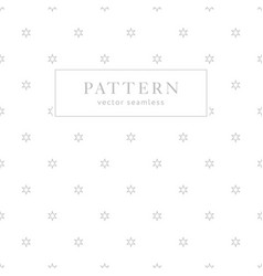 simple geometric seamless pattern with stars vector image