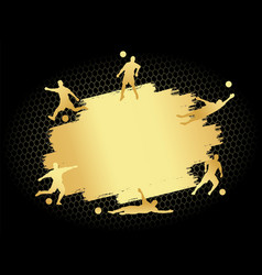 soccer football stadium field with player vector image