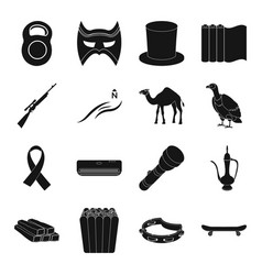 Sport theater typography weapons and other web vector